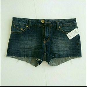 Refuge Denim Jean Cut Off Short Shorts Juniors S